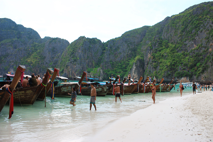Long Tail Boats Maya Bay Thailand