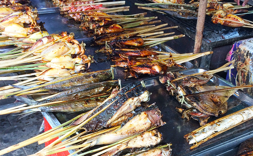Grilled Seafood in Kep, Cambodia