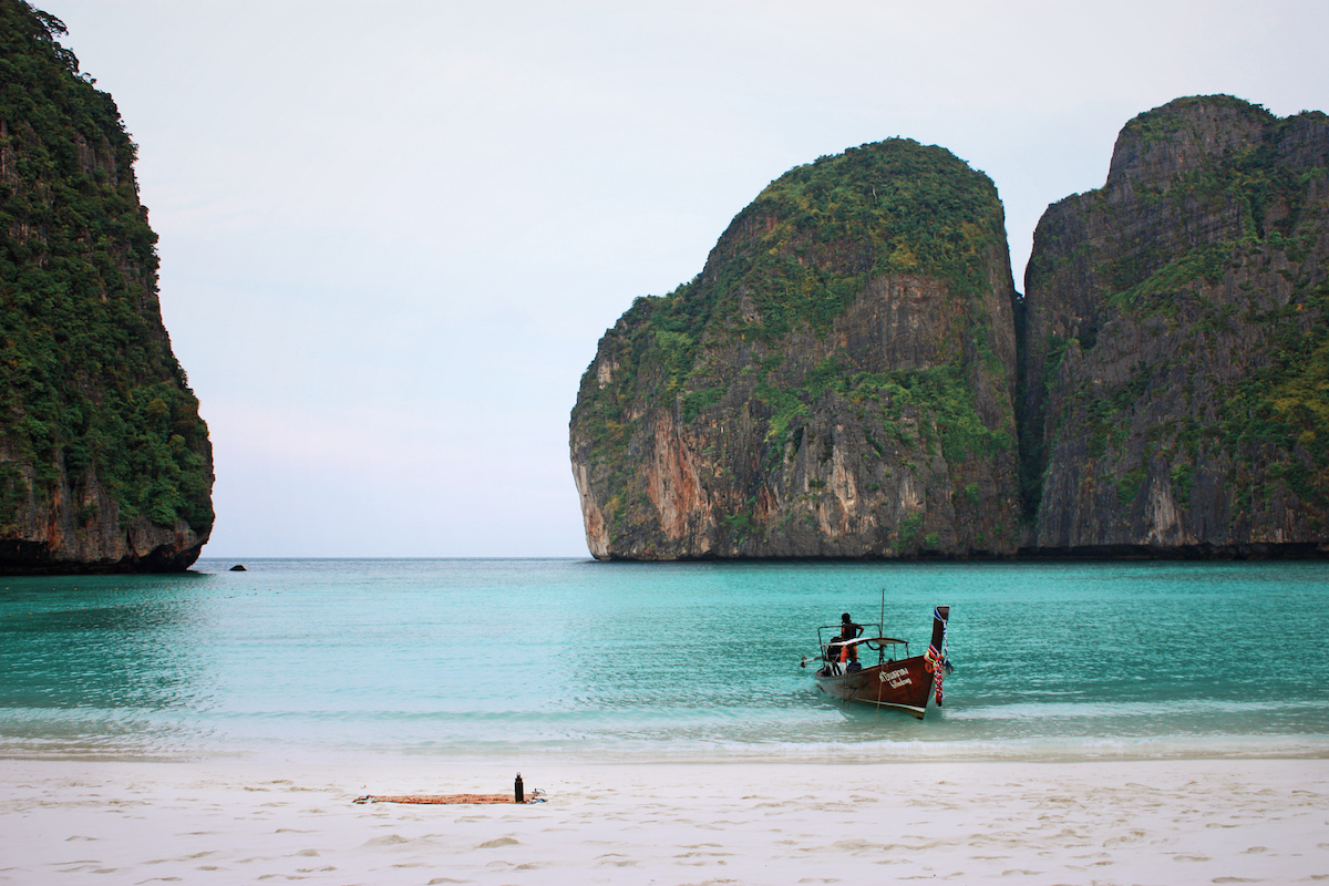 Photo of a boat in Maya Bay