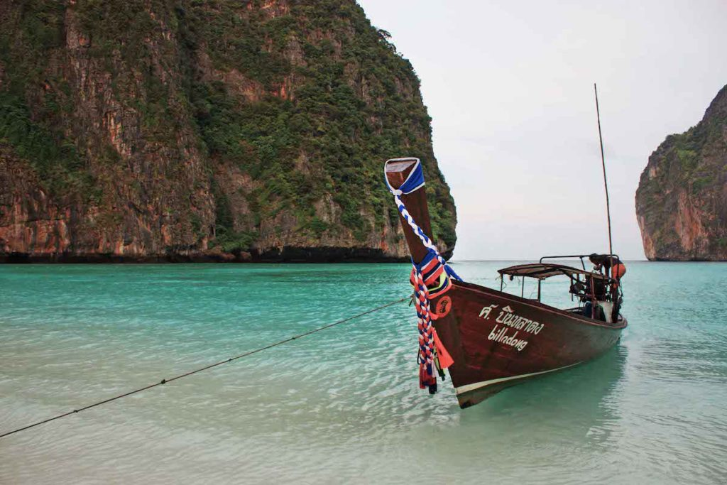 Longtail Boat in Maya Bay