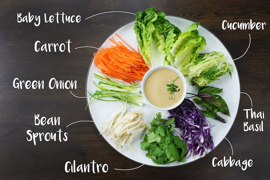 Image of Ingredients for Spring Roll Recipe