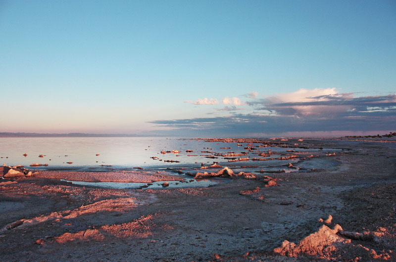 Image of a sunset at Salton Sea