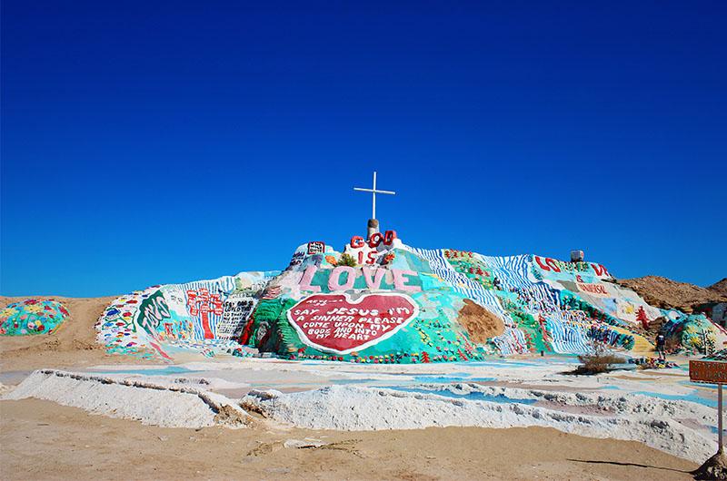 Image of Salvation Mountain Near Salton Sea