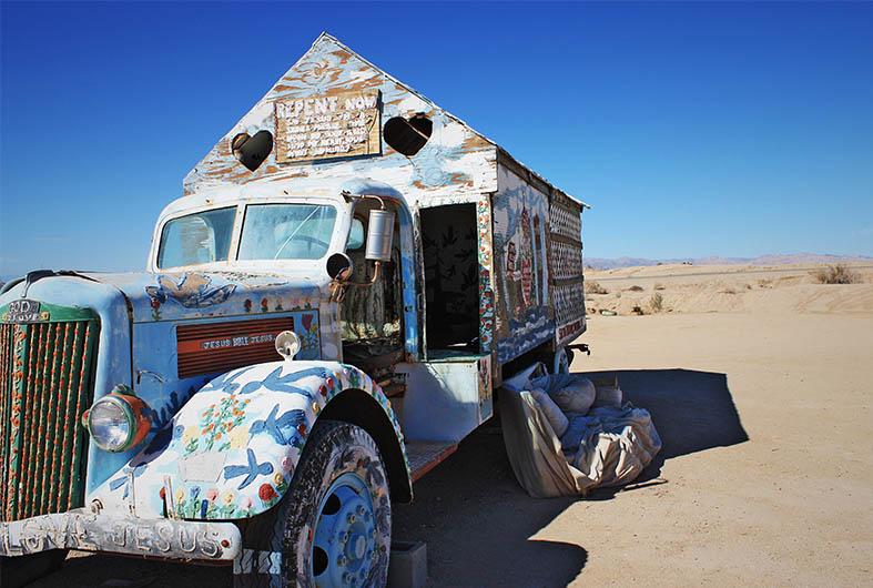 Image of artwork at Salvation Mountain Near Salton Sea