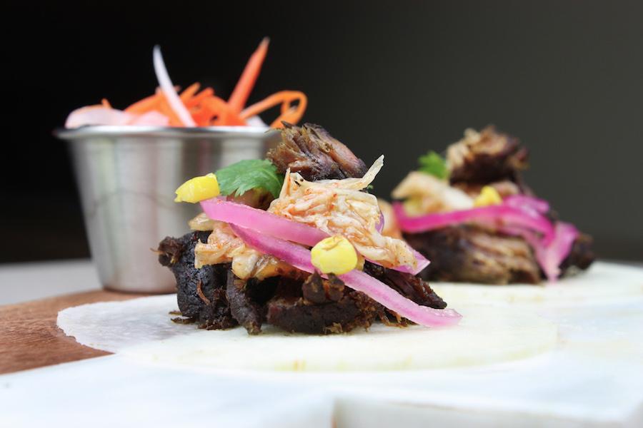 Vietnamese Beef Tacos Corn Jicama