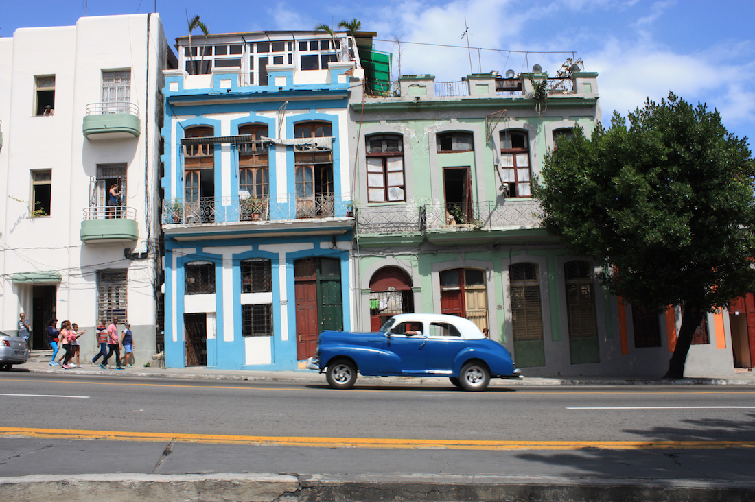Classic Car on Streets of Havana, Cuba