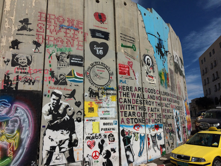 Graffiti Covered Wall in Palestine