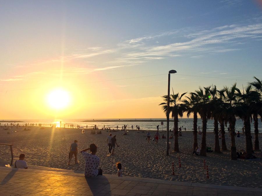 Sunset in Tel Aviv, Israel