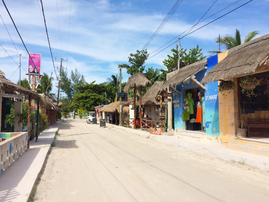 Streets of Holbox Island