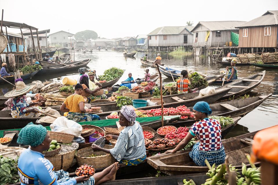 Ganvie Market Africa