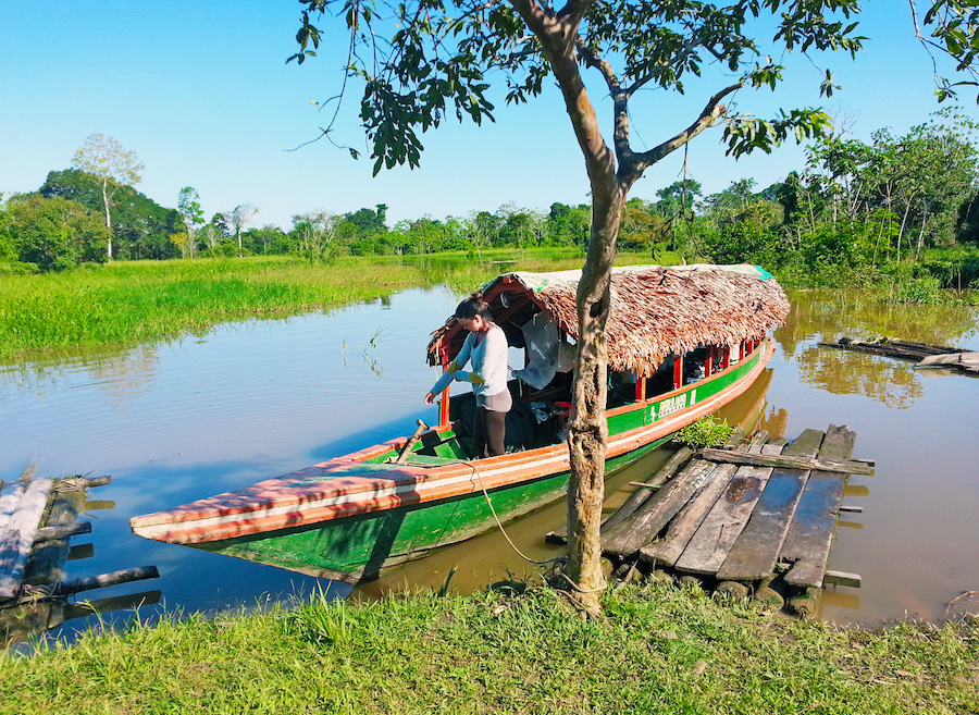 Wooden Boat Amazon River