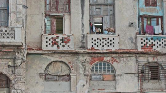 Cuban Home on the Malecon, Havana, Cuba