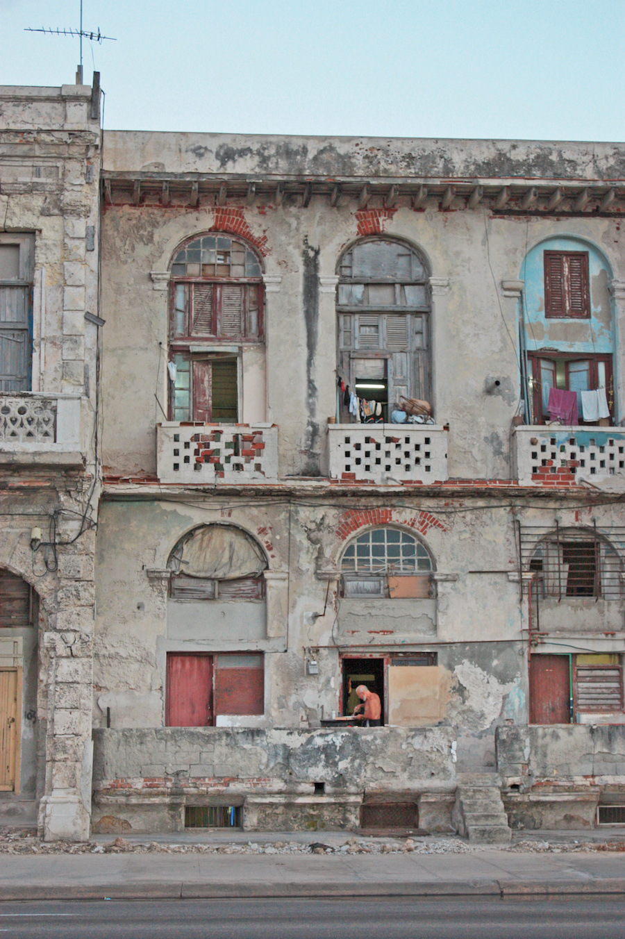 Cuban Home on the Malecon, Havana, Cuba