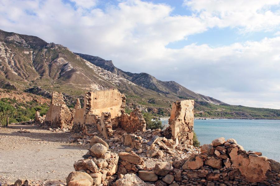 Ruins in Elafonisi