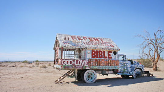 Salvation Mountain Bible Truck