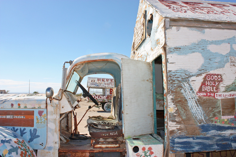 Salvation Mountain Trucks