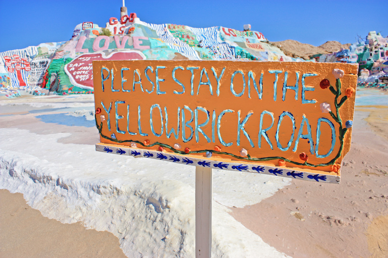 Salvation Mountain Yellow Brick Road