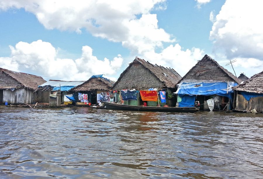 Iquitos Peru Floating Homes