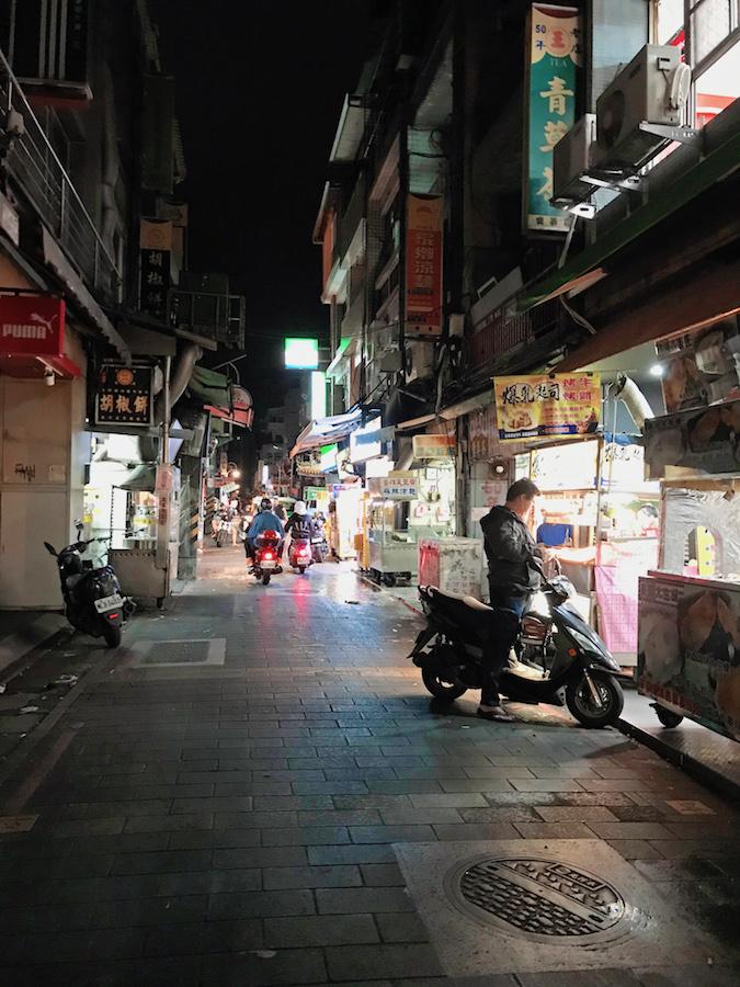 Streets of Taipei at Night