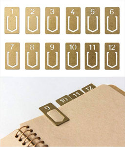 Brass Numbers Bookmarks