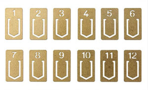 Brass Numbered Book Marks