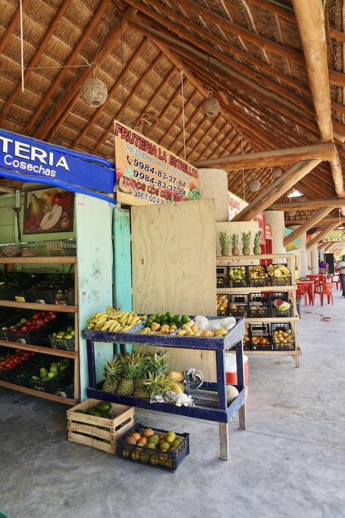 Holbox Mexico Fruit Market