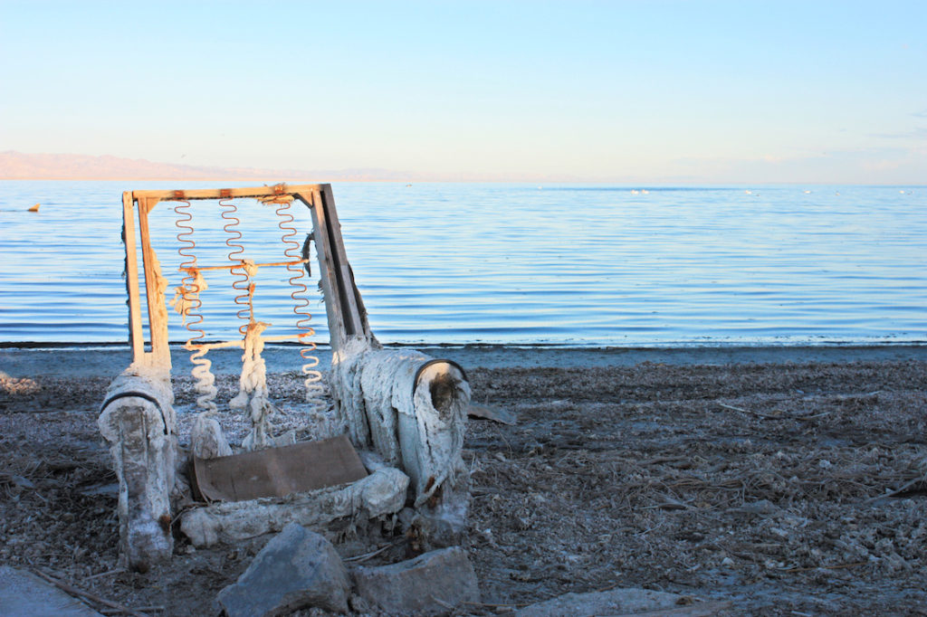 Salton Sea Chair Sunset